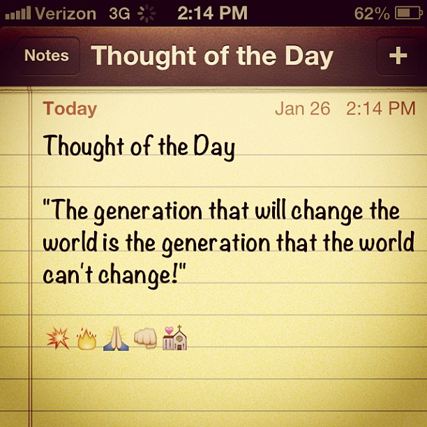 The generation that will change the world...not of this world