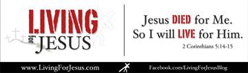 Living For Jesus Bumper Sticker Close up