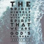 Romans 8: 16