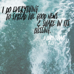 1 Corinthians 9:23